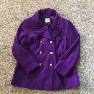 Old Navy Purple PeaCoat with Gold Buttons